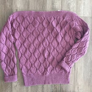 Dusty Pink Knit Cotton Sweater